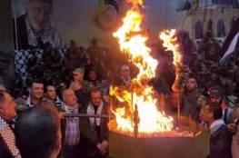 أبناء القدس يوقدون شعلة الانطلاقة الـ55 في بلدتي حزما وأبو ديس