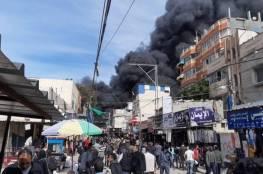غزة: الداخلية تؤكد السيطرة على حريق النصيرات