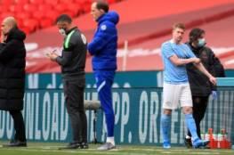 توقعات بانتهاء موسم دي بروين بسبب الإصابة
