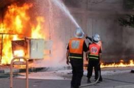 الدفاع المدني يخمد حريق في جنين