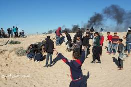 بالصور.. اصابات بينها صحفي خلال قمع المشاركين بفعالية الحراك البحري شمال القطاع