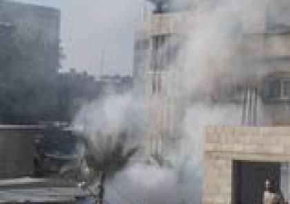 حريق في منزل شمال قطاع غزة