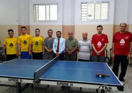 المجمع يعبر خدمات البريج وفلسطين يعود للفوز من بوابة اليرموك في دوري كرة الطاولة