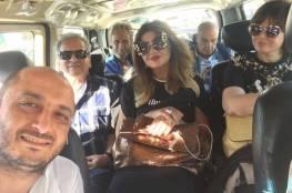 صور: فنانون ومشاهير مصريون منهم إلهام شاهين يزورون دمشق