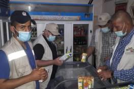الاقتصاد بغزة: تحرير 16 محضر ضبط لبضائع منتهية الصلاحية وفاسدة