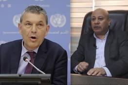 """أبو هولي يدعو """"أونروا"""" خلال لقاء مفوضها العام لتلبية احتياجات اللاجئين التي خلّفها العدوان"""