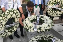 احياء ليوم الشهيد: وضع أكاليل من الزهور على أضرحة الشهداء في بيروت