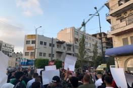 مسيرة وسط مدينة رام الله إسنادا للأسرى المضربين عن الطعام