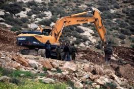الاحتلال يجرف أراضي المواطنين في دير قديس ونعلين رام الله