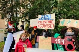 بروكسل: وقفة للتنديد بجرائم الاحتلال بحق الفلسطينيين