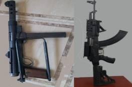 غزة: ضبط سلاحين استخدما خارج إطار القانون