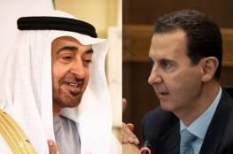 ولي عهد أبوظبي يتلقى اتصالا هاتفيا من الرئيس السوري