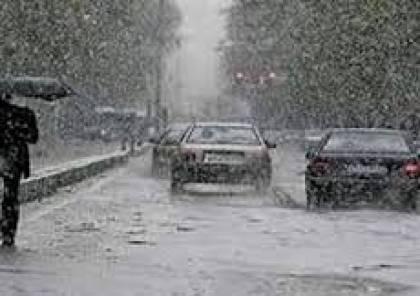 طقس فلسطين: أجواء عاصفة وماطرة وثلوج بالمناطق الجبلية