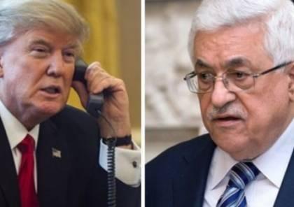 الرئيس عباس يتلقى تهديدات لعدم رده على اتصال من ترامب