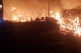 إحراق خيام للاجئين سوريين في لبنان (فيديو)