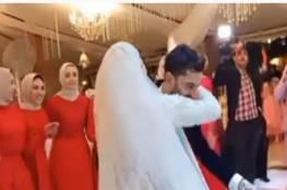بالفيديو.. وصلة رقص لصلاح وابنته مكة في حفل زفاف شقيقه