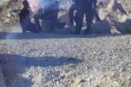 صور: اعتقال شاب بزعم محاولة دهس على حاجز قلنديا