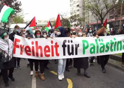 موكب يضم مئات السيارات يجوب العاصمة الألمانية لدعم الشعب الفسطيني