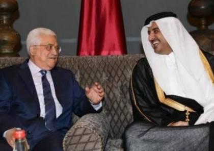 تفاصيل لقاء الرئيس عباس مع امير قطر..