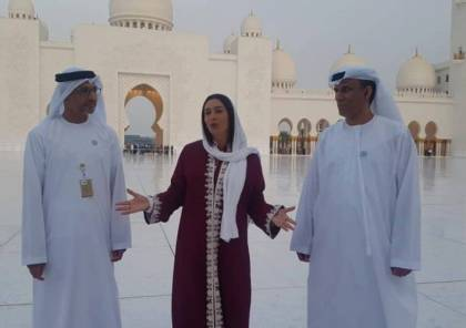 """بالصور: وزيرة الرياضة """"الإسرائيلية"""" تزور مسجد ابو ظبي بدعوة رسمية"""