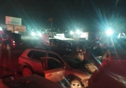 إصابة جندي إسرائيلي في عملية دهس على حاجز قلنديا (فيديو)
