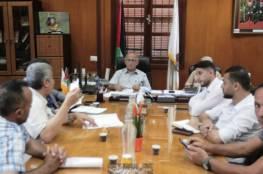 رئيس بلدية غزة يبحث مع أصحاب الاستراحات الإشكاليات التي تواجههم