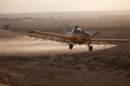 الاحتلال يرش مبيدات كيميائية على اراضي المواطنين المزروعة شرق غزة