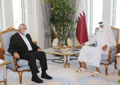 هنية يهاتف أمير قطر ويبحث معه آخر المستجدات على الساحة الفلسطينية