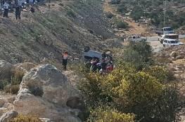 صور:مصرع 3 فلسطينيات واصابة 3 اخرين في حادث مروع على طريق بيت ايل