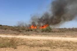 قناة عبرية: حرائق غلاف غزة ليست بفعل بالونات حارقة