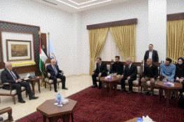 الرئيس عباس يستقبل عائلة العميد رسلان الشيخ إبراهيم