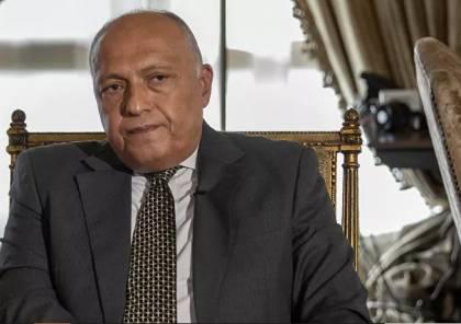 شكري يطلع تريستل على الجهود المصرية من أجل تحريك عملية السلام