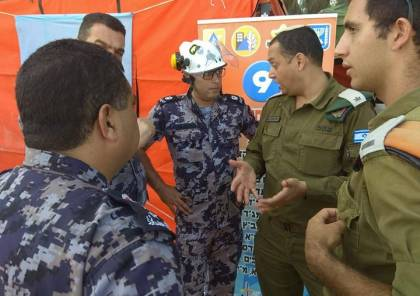 صور: تدريب فلسطيني إسرائيلي أردني مشترك للدفاع المدني على حدود غزة