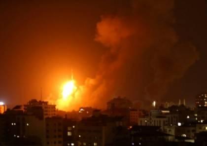 طائرات الاحتلال تقصف عدة اهداف في قطاع غزة...