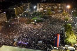 عشرات الاف الدروز يتظاهرون في تل أبيب ضد قانون القومية