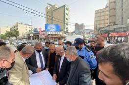 وزير الحكم المحلي يفتتح سلسلة مشاريع جديدة بغزة