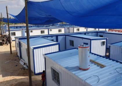 صور : استعدادات لتسليم مركز جديد للحجر الصحي بغزة