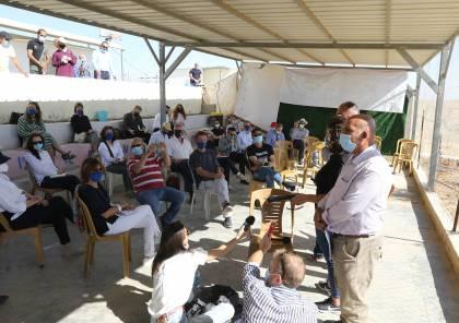 رؤساء بعثات دول أوروبية يطلعون على معاناة المواطنين جنوب الخليل