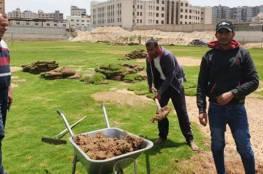 نادي غزة الرياضي يشرع في ترتيب ملاعبه وصالاته