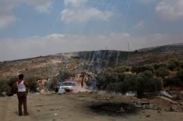 إصابتان بالرصاص والعشرات بالاختناق خلال مواجهات مع الاحتلال في جبل صبيح