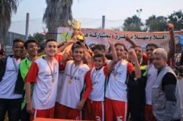 """غزة الرياضي بطلا لبطولة الشهيد """"حسن أبو غوش"""""""