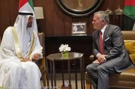العاهل الأردني وولي عهد أبوظبي يبحثان تطورات القضية الفلسطينية