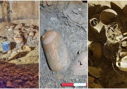 أوانٍ وجرار فخارية عمرها 2000 عام في مستوطنة بيت ايل