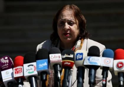 وزيرة الصحة: إسرائيل تعرقل إدخال أجهزة فحص كورونا إلى الضفة