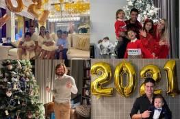صور: رونالدو وسواريز يحتفلان مع عائلاتهما.. نجوم الرياضة يستقبلون العام الجديد