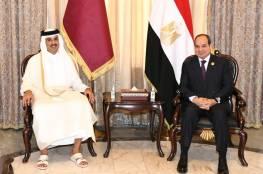 الرئاسة المصرية تكشف تفاصيل اجتماع السيسي مع أمير قطر