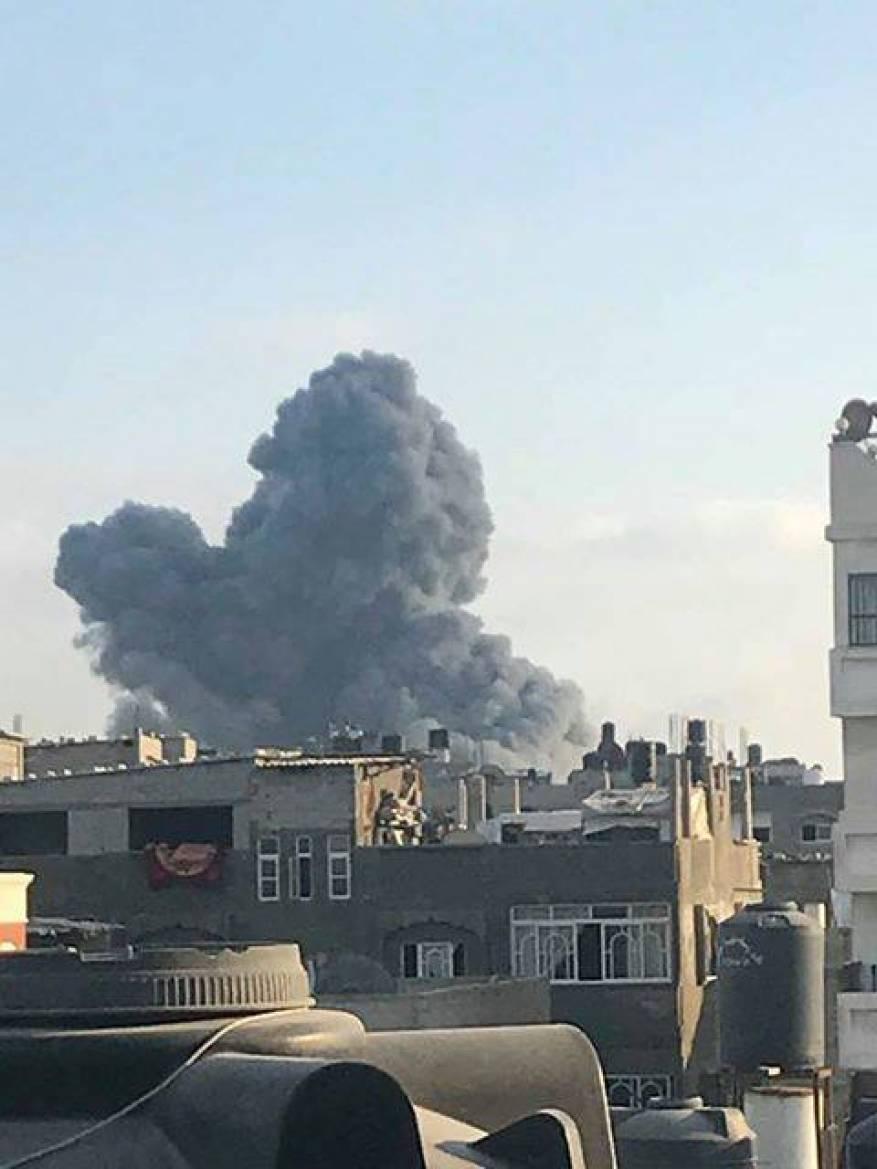 قصف مبنى المسحال