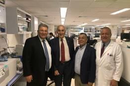 ابوكشك يلتقي رئيس الجامعة الامريكية في بيروت ويبحثان سبل التعاون