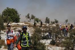 إصابات بالاختناق خلال قمع قوات الاحتلال لتظاهرة سلمية في نعلين