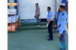 الشرطة تغلق محال تجارية وتحرر مخالفات سلامة عامة في جنين